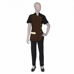 Cămașă ELISA Negru/Maro ARTERO Fashion Professional Line